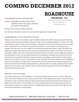 Roadhouse Brewing