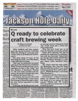 Q to celebrate American craft brewing week
