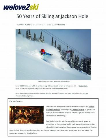 We Love to Ski