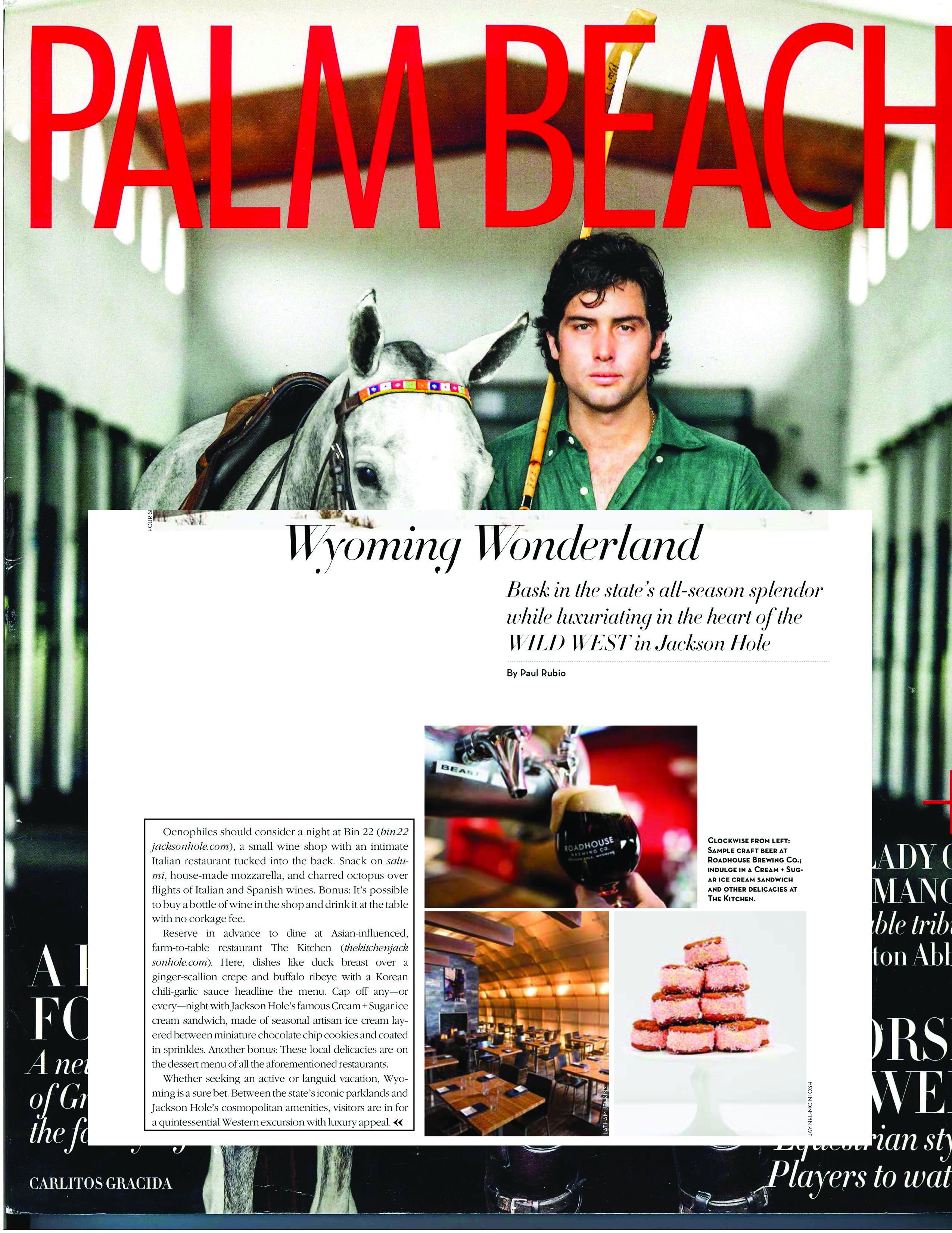 Press item at Bin 22 - Palm Beach Illustrated