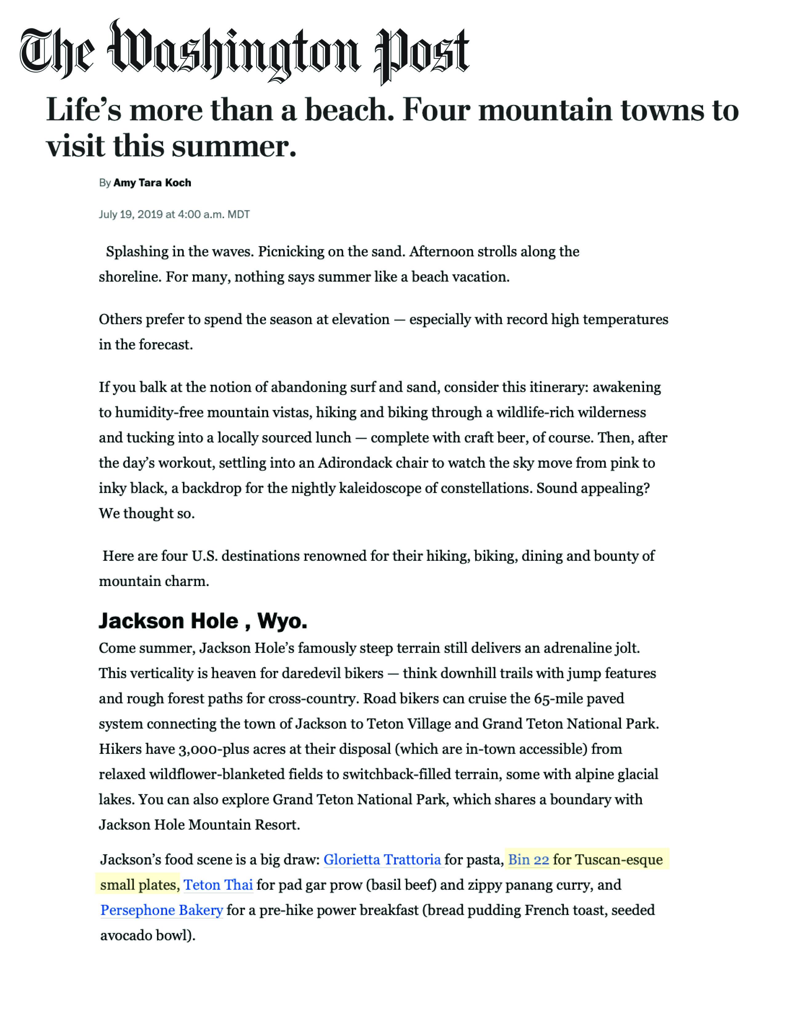 Press item at Bin 22 - The Washington Post