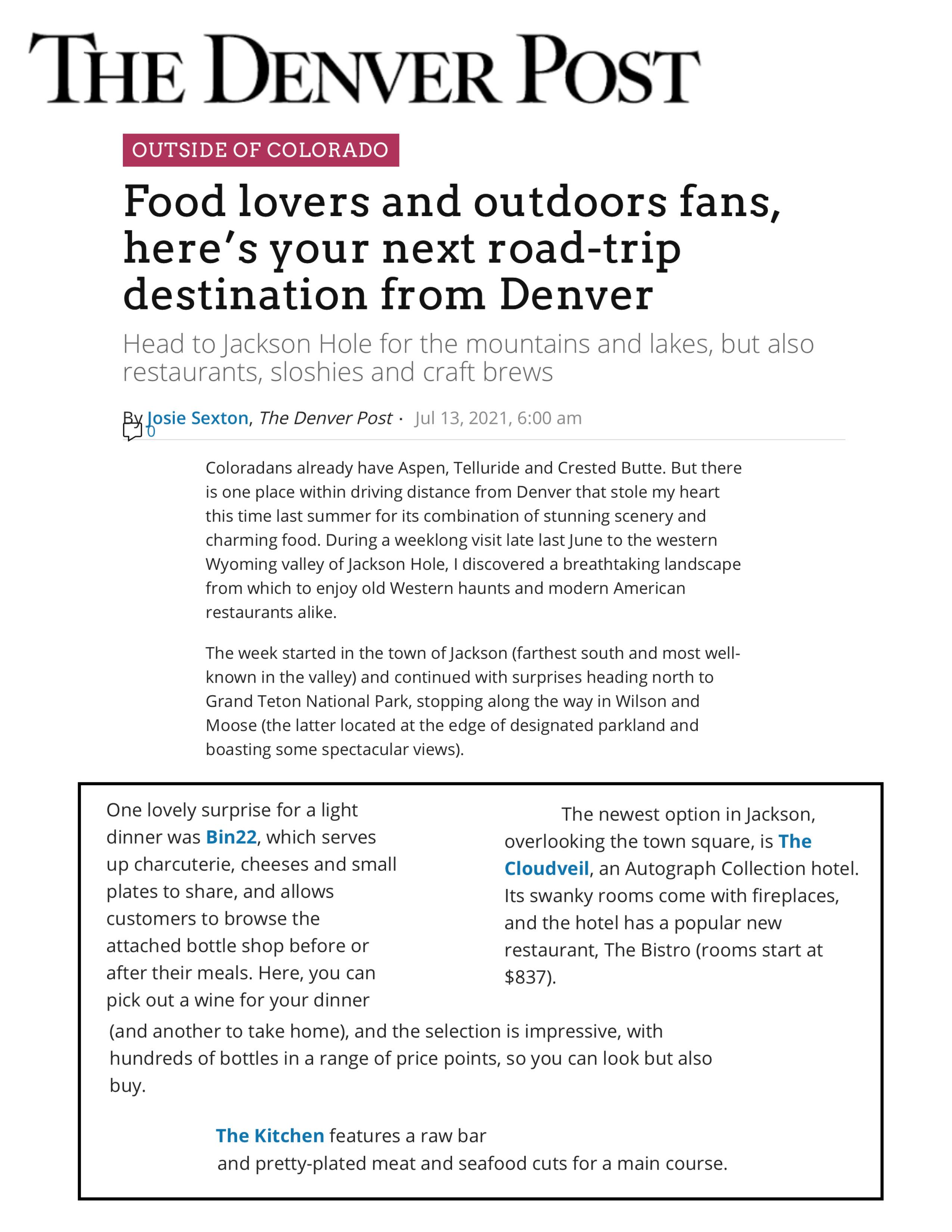 Press item at Bin 22 - The Denver Post