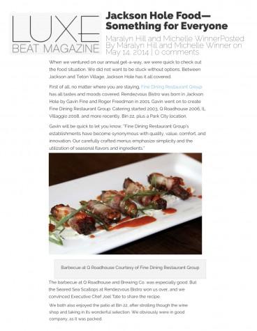 Jackson Hole Food—Something for Everyone
